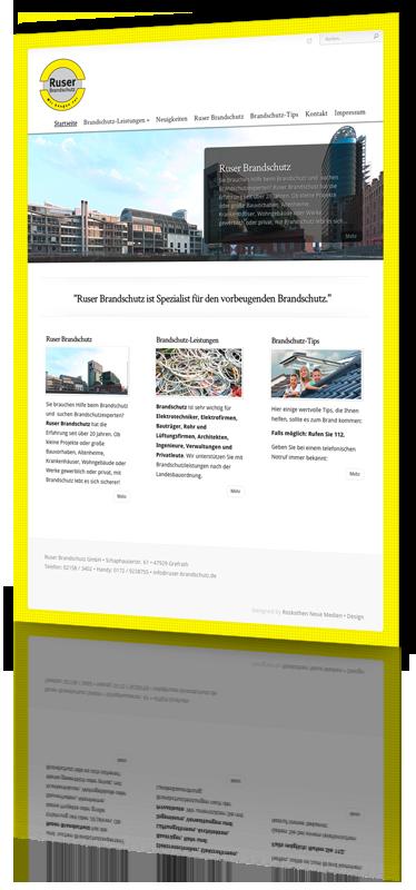 Modernes Webdesign für Firmen